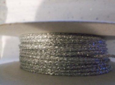 Silver Nylon Cord, 1.5mm - 10 Yards