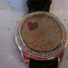 Red Sparkle Heart Watch