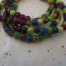 "6mm Jewel Tone Beads - 36"" Strand"