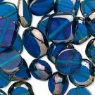 Blue Luster Glass Beads