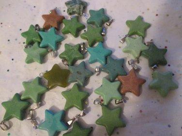 Star Pendants - 25 Pieces