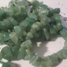 "Green Aventurine Medium Chips - 36"" Strand"