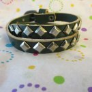 Steel and Leather Wrap Bracelet