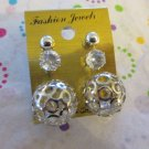 Set Of 3 Silver Tone Post earrings