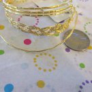 Set of 5 Gold Tone Bracelets