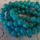 "Blue and Green  Mix Beads, 8mm - 30"" Strand"