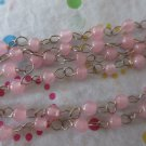 4mm Pink Beaded Chain - 7'