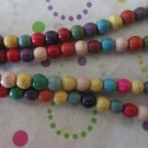 6mm Mixed Color Howlite Beads