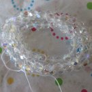 Clear Faceted Round Beads - 1 Strand