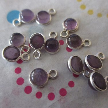 Amethyst and Sterling Silver Drops