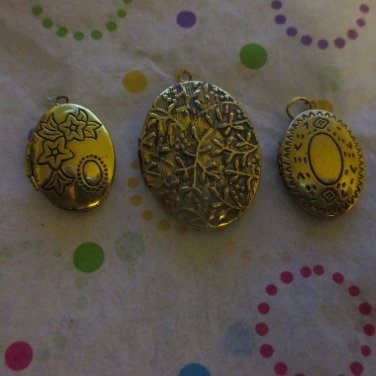 3 Gold Tone Lockets