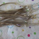 Brown Suede Necklaces - Set of 8