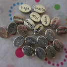Oval Wish, Belive, Create and Hope Beads.