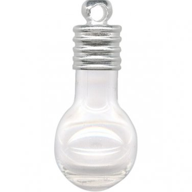 10 Light Bulb Bottle Charms