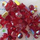 Deep Red Glass Bead Assorment