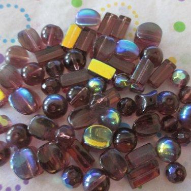 Purple Glass Bead Assortment
