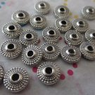 Silver Rondelles - 25 Pieces
