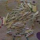 Silver Metal Tube Beads - Set of 100