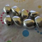 3 Sided Silver Tone Beads - Set of 8