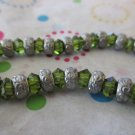 Green and Silver Fashion Bracelet