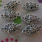 Silver Fancy Flower Connectors 12x6mm