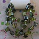 Green Shell Bracelets Set of 3