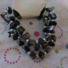 Black Shell Bracelets Set of 3