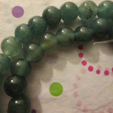 "6mm Round Green Aventurine Beads- 1 16"" Strand"