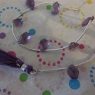 Faceted Teardrop Amethyst Beads - 1 Strand