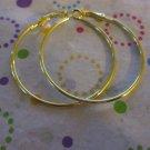 Gold Hoop Pierced Earring