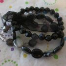 Acrylic Black Stretchy Bracelet Set