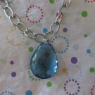 Blue Drop Necklace 17 inches