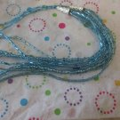 Light Blue Multi-Strand Fashion Necklace