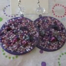 Purple Bead Fashion Earrings