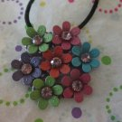 Multi Color Flower Pendant Necklace