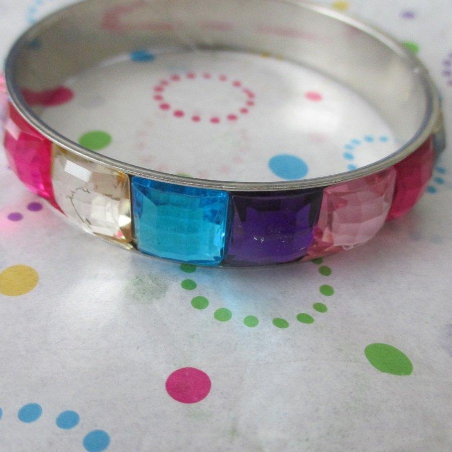 Multi Colored Jeweled Bracelet