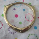 Gold Triangle Bracelet with Crystals