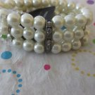 Cream 3 Row Pearl Bracelet