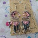 Pink Moon Beaded Earrings
