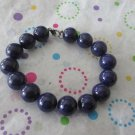 Big Blue Bead Fashion Bracelet