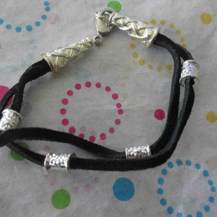 Black and Silver Fashion Bracelet