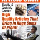 ARTICLE CASH High Quality Articles That Makes Money