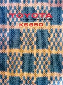 TOYOTA KS 650 KNITTING MACHINE INSTRUCTION MANUAL