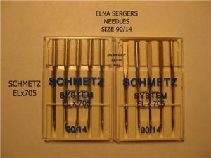 ELNA SERGER SCHMETZ SYSTEM ELx705 90/14 NEEDLES NEW