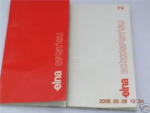 ELNA SU 62 SEWING MACHINE INSTRUCTION MANUALS CD