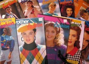 BROTHER KNITTING MACHINE PATTERNS FASHION BOOKS on DVD