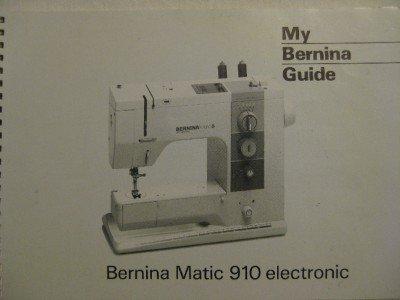 BERNINA MATIC 910 ELECTRONIC SEWING MACHINE MANUAL CD