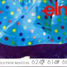 ELNA SERGER 624DSE-- 614DE--604 E INSTRUCTION MANUAL CD