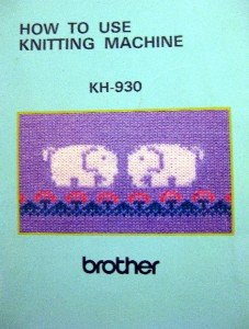 BROTHER KH-930 / KR-850 KNITTING MACHINE MANUALS CD