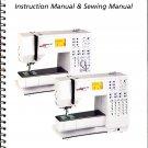BERNINA VIRTUOSA 153/163 SEWING MACHINE INSTRUCTION MANUAL  & SEWING GUIDE CD
